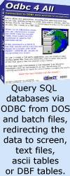 Odbc 4 All: SQL software for MS-DOS and batch files