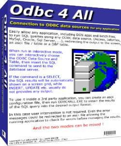 ODBC, DOS, database, DSN, DBF, DB3, Clipper, Access, Excel, Informix, Oracle, My
